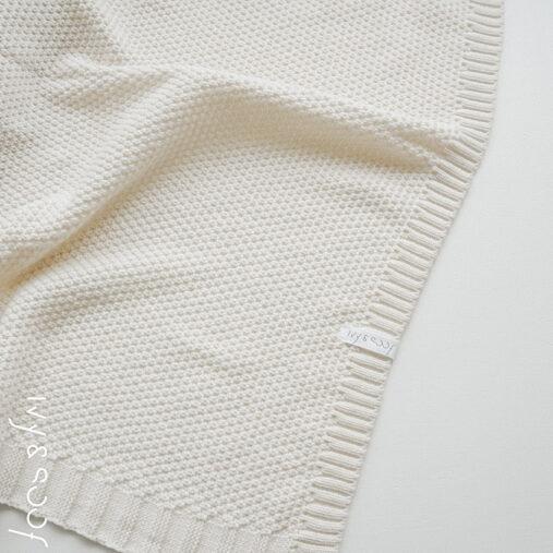 baby deken gebreide wiegdeken wikkeldoek kraamkado kraamcadeau
